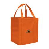 Non Woven Orange Grocery Tote-Waynesburg Primary Logo