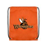 Orange Drawstring Backpack-Waynesburg Primary Logo