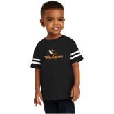Toddler Black Jersey Tee-Waynesburg Primary Logo