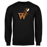 Black Fleece Crew-Mascot W Logo