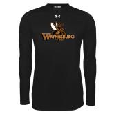 Under Armour Black Long Sleeve Tech Tee-Waynesburg Primary Logo