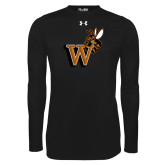 Under Armour Black Long Sleeve Tech Tee-Mascot W Logo