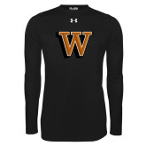 Under Armour Black Long Sleeve Tech Tee-W Lettermark