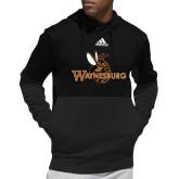 Adidas Black Team Issue Hoodie-Waynesburg Primary Logo