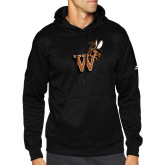 Adidas Black Team Issue Hoodie-Mascot W Logo
