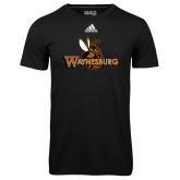 Adidas Climalite Black Ultimate Performance Tee-Waynesburg Primary Logo