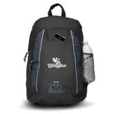 Impulse Black Backpack-Waynesburg Primary Logo