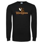 Black Long Sleeve T Shirt-Waynesburg Primary Logo