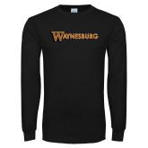Black Long Sleeve T Shirt-Waynesburg