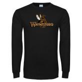 Black Long Sleeve T Shirt-Waynesburg Distressed