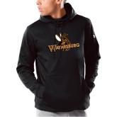 Under Armour Black Armour Fleece Hoodie-Waynesburg Primary Logo