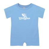 Light Blue Infant Romper-Waynesburg Primary Logo