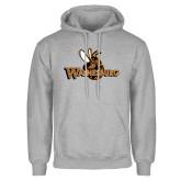 Grey Fleece Hoodie-Waynesburg Primary Logo