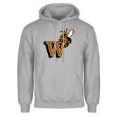 Grey Fleece Hoodie-Mascot W Logo