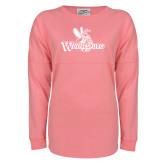 Pink Game Day Jersey Tee-Waynesburg Primary Logo