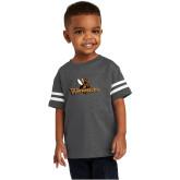 Toddler Vintage Charcoal Jersey Tee-Waynesburg Primary Logo