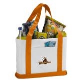 Contender White/Orange Canvas Tote-Waynesburg Primary Logo