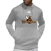 Adidas Grey Team Issue Hoodie-Waynesburg Primary Logo