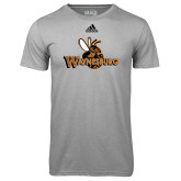Adidas Climalite Sport Grey Ultimate Performance Tee-Waynesburg Primary Logo