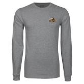 Grey Long Sleeve T Shirt-Waynesburg Primary Logo