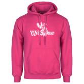 Fuchsia Fleece Hoodie-Waynesburg Primary Logo