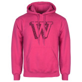 Fuchsia Fleece Hoodie-W Hot Pink Glitter