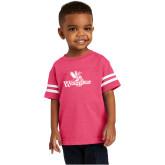 Toddler Vintage Hot Pink Jersey Tee-Waynesburg Primary Logo