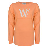 Coral Game Day Jersey Tee-W White Soft Glitter