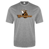 Performance Grey Heather Contender Tee-Waynesburg Primary Logo