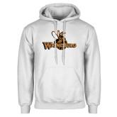 White Fleece Hoodie-Waynesburg Primary Logo