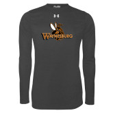 Under Armour Carbon Heather Long Sleeve Tech Tee-Waynesburg Primary Logo