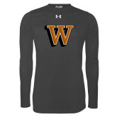 Under Armour Carbon Heather Long Sleeve Tech Tee-W Lettermark