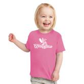 Toddler Fuchsia T Shirt-Waynesburg Primary Logo