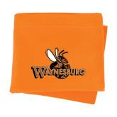 Orange Sweatshirt Blanket-Waynesburg Primary Logo