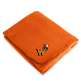 Orange Arctic Fleece Blanket-Mascot W Logo