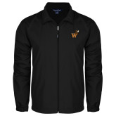 Full Zip Black Wind Jacket-Mascot W Logo