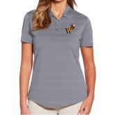 Ladies Callaway Horizontal Textured Steel Grey Polo-Mascot W Logo