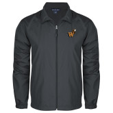 Full Zip Charcoal Wind Jacket-Mascot W Logo