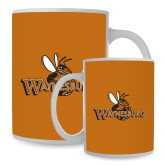 Full Color White Mug 15oz-Waynesburg Primary Logo