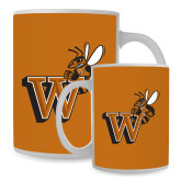Full Color White Mug 15oz-Mascot W Logo