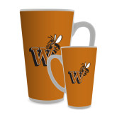 Full Color Latte Mug 17oz-Mascot W Logo