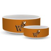 Ceramic Dog Bowl-Mascot W Logo