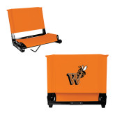 Stadium Chair Orange-Mascot W Logo