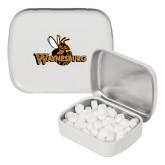 White Rectangular Peppermint Tin-Waynesburg Primary Logo