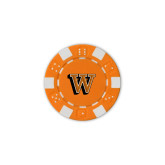 Orange Game Chip-W Lettermark