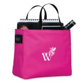 Tropical Pink Essential Tote-Mascot W Logo