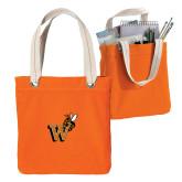 Allie Orange Canvas Tote-Mascot W Logo