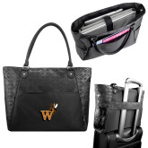 Sophia Checkpoint Friendly Black Compu Tote-Mascot W Logo