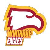 Medium Decal-Winthrop Eagles w/ Eagle Head, 8in Tall