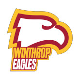 Small Decal-Winthrop Eagles w/ Eagle Head, 6in Tall